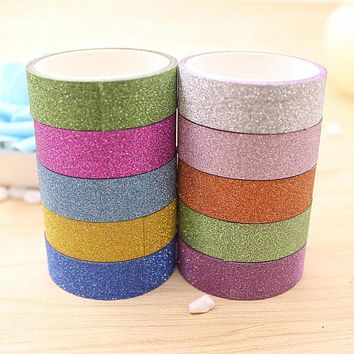 Candy Color Glitter Decorative Washi Tape