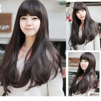 Fashion Lady Girls Cute Hairpiece Long Lovely Curly Full Hair Wig Wigs = 1842635460