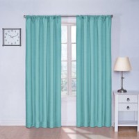 Eclipse Kids Kendall Room Darkening Thermal Curtain Panel,Turquoise,63-Inch