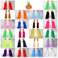 FLUFFIES SET LEGWARMERS (PICK YOUR SIZE) & MATCHING CUFFS