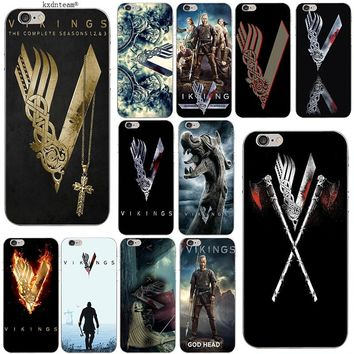 Vikings Ragnar Vikings Logo Soft TPU Silicon Phone Cases Slim Cover for iPhone 8 7 6 6S Plus X 5 5S SE 5C 4 Shell Coque Fundas