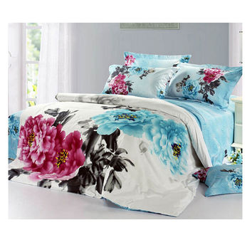 Cotton Active floral printing Quilt Duvet Sheet Cover Sets 2.0M/2.2M Bed Size 48