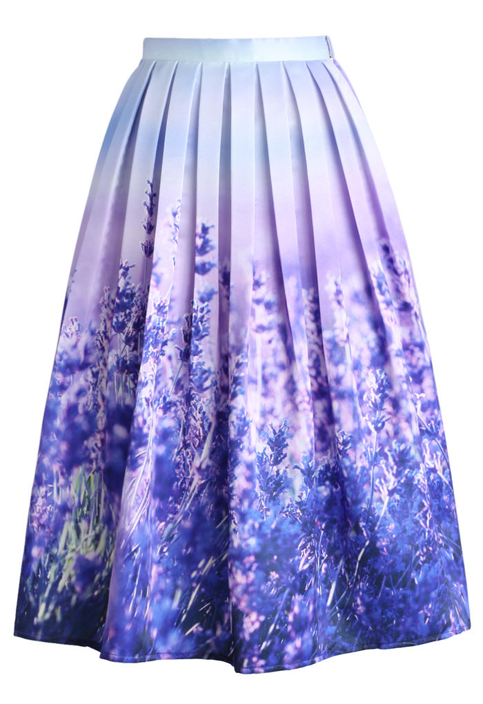 endless lavender romance pleated midi from chicwish skirt