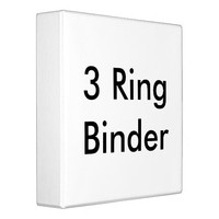 Personalized 3 Ring Binder