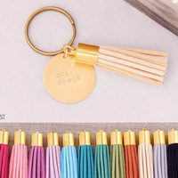 Chi Omega Sorority Tassel Keychain | A-List Greek Designs