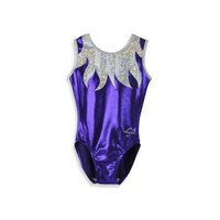 Obersee Kids Gymnastics Leotard in Purple Flames