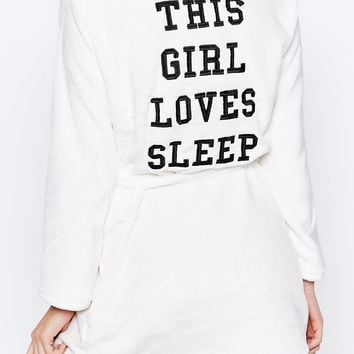 New Look Girl Loves Sleep Dressing Gown