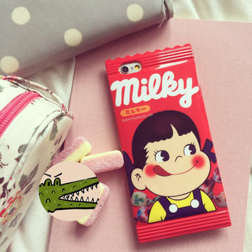 """Red poko chan chocolate bar sweet wrapper skittles M&M's iphone 6 4.7"""" case"""