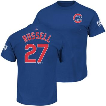 Chicago Cubs Youth Addison Russell 2016 World Series Name and Number T-Shirt