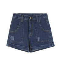 Vintage Roll-Up Hem Jean Shorts | MIXXMIX