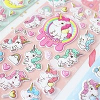 Unicorn 3D Decorative Washi Stickers Scrapbooking Stick Label Diary Stationery Album Stickers