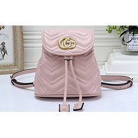 Gucci Best-selling Women's Pure Backpack Shopping Bag Pink