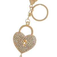 """Key to My Heart"" Encrusted Key Chain"