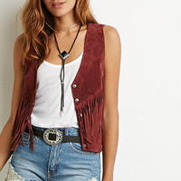 Genuine Suede Fringed Vest