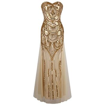 gold sequin maxi dress sexy tube vestidos party evening runway long elbise elegant floor jurken vintage vestido longo