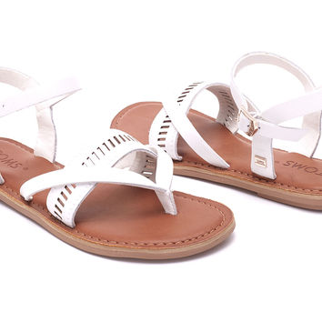 WHITE LEATHER WOMEN'S LEXIE SANDALS