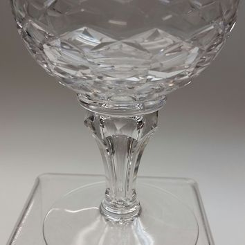 Royal Leerdam Regal dessert /champagne  Netherlands  Hand Cut glass