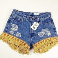 Retro Fringe Shorts