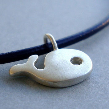 Tiny Whale Necklace in sterling silver by zoozjewelry on Etsy