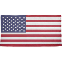 4th of July American Flag All Over Beach Towel