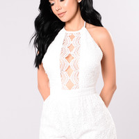 One Song Only Romper - White