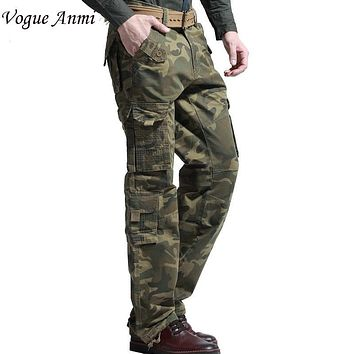 Vogue Anmi Army Combat Cargo Pants Trousers Loose camo pants cotton overalls casual pants camouflage cargo pants men