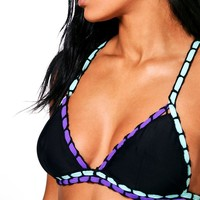 Brazil Boutique Crochet Colour Pop Triangle Bikini | Boohoo
