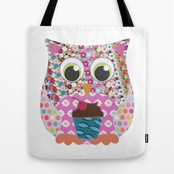 Appliqué Patch Owl Tote Bag by Sharon Turner