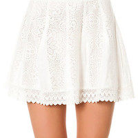 The Off the Hook Crochet Skirt in Pearl