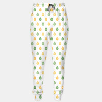Green and yellow raindrops pattern Sweatpants, Live Heroes