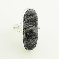 Agate Drusy Sterling Silver Ring