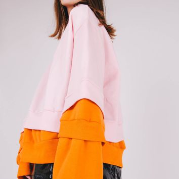 Double Layered Oversized Pullover