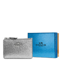 COACH  Mini ID Skinny Glitter Wallet in Silver or Gold