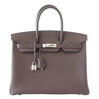 HERMES BIRKIN 35 Bag ECORCE (bark)Taupe Palladium New Colour
