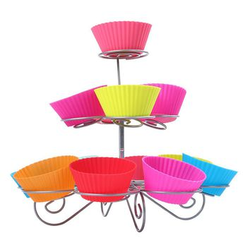 party decoration best performance 3 tier 13 cupcakes cake pop stand and Lollipop Holder Cake Tools E5M1
