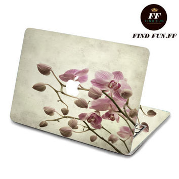 back cover decal mac pro decals stickers sticker Apple Mac laptop vinyl 3M surprise gift for her him beautiful 素雅花-074