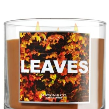 Leaves 14.5 oz. 3-Wick Candle   - Slatkin & Co. - Bath & Body Works