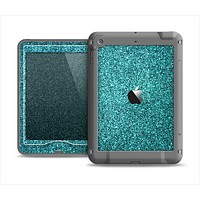 The Teal Glitter Ultra Metallic Apple iPad Mini LifeProof Nuud Case Skin Set
