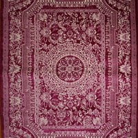 2120 Purple Medallion Traditional Area Rugs