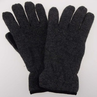 Gray Structure Wool Driving Gloves 3M Thinsulate Lined Mens M L Winter Snow
