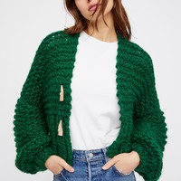 Cropped Cable Cardi