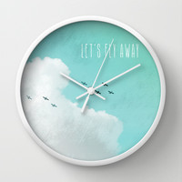 Let's Fly Away Wall Clock by M Studio
