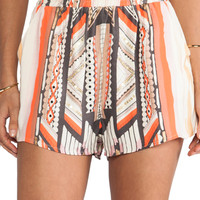 MINKPINK Mayan Temple Shorts in Multi