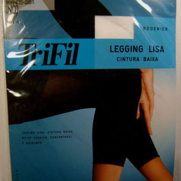 TriFil Leggings Lisa Low Waist Lot 2 Pair One Size Ankle Length Footless Opaque