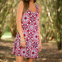 Judith March Racer Dress, Red