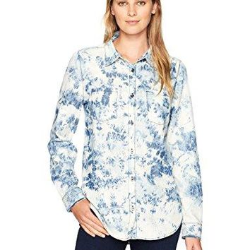 Jag Jeans Womens Bowie Shirt in Cotton Tencel Chambray