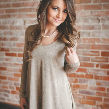 Mocha Lace Bottom Tunic