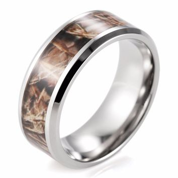 MEN'S TITANIUM REALTREE CAMO RING - SPECIAL OFFER - RETAIL
