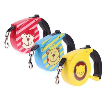 5 M Retractable Dog Leash Cartoon Automatic Lead Walking Leash for Dogs Small Medium Pets Dog Products