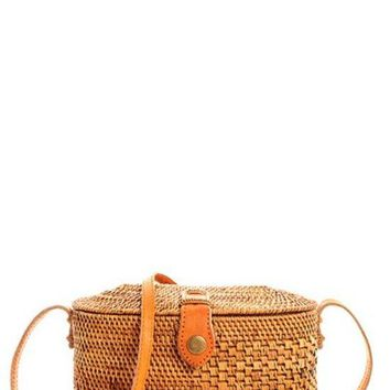 Smooth Straw Woven with Non Detachable Long Strap